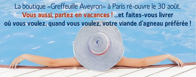 Congés Boutique Greffeuille Aveyron Paris