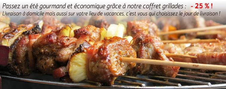95 € au lieu de 127 € soit 25% de réduction ! Coffret de 5 kg de viande prête à griller, composé de côtelettes, de tranches de gigot et de deux épaules à plat désossées.